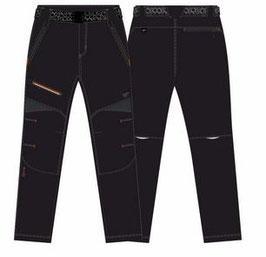 Pantalón Unisex Trekking Polyester / Elastán. Color Negro / Antracita / Mandarina. Tallas 38 a 46