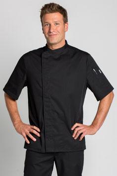 Chaqueta Cocinero cruzada color negra manga corta
