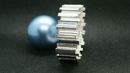 elastisches Armband silber Antrazit