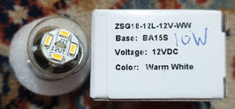 LED lamp BA15S 12V 10 watt (Kentekenverlichting)