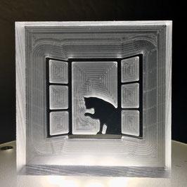 """Seifenstempel """"Katze am Fenster"""""""