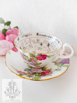 328. エインズレイ/紫陽花のトランプ柄占いカップ(英1920~30年頃)