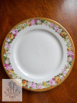 379. ローゼンタール/金彩とローズの18cmプレート(独1928年)