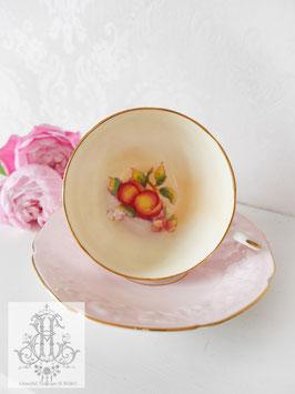 303. パラゴン/もくもく模様と桃のパステルピンクカップ(英1930年代)