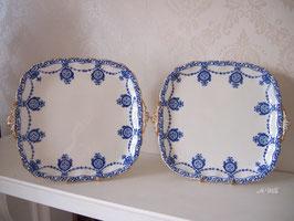 10.  ロイヤルクラウンダービーB&Bプレート2枚セット(英1890年頃)Royal Crown Derby B&B plates 2set