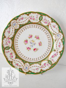 275. コウルドン/ローズと勿忘草のセーヴル風20.3cm皿 在庫4枚(1906-1920)