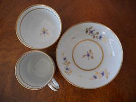 127. ニューホール窯 ティーボールとコーヒーカップのトゥルートリオ(英1790-1800年頃)