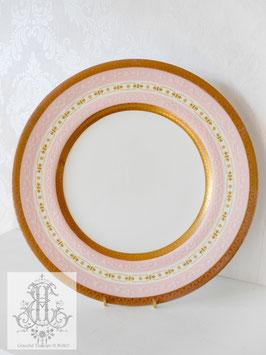 292. コールポート/パステルピンクとアシッドゴールド約27cm大皿(英1890-1919)