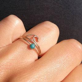 WAVE Ring 3fach mit Blauquarz