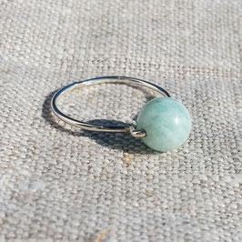 schlichter Ring mit Amazonit