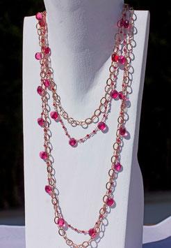 TEA collana Quarzo rosa