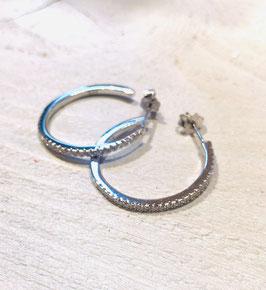 orecchini a cerchio con zirconi