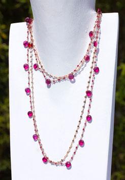 LUCY collana quarzo rosa