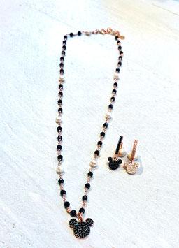 Girocollo rosario serpillo e perle Micky