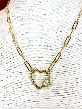 collana catena Ankor con lucchetto a cuore