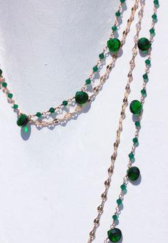 LUCY collana quarzo Verde