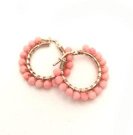 Orecchini Emma corallo rosa