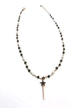 Girocollo rosario serpillo e perle bacchetta magica