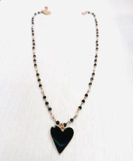 Girocollo rosario serpillo nero e perle di fiume