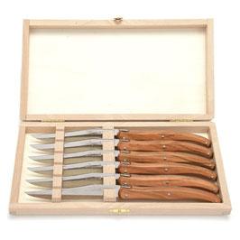 """Lagioule Steakmesser """"Art de Laguiole"""" Holzbox"""