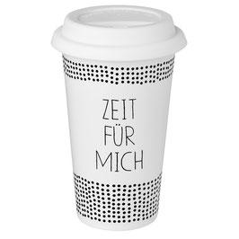 """Thermobecher """"Zeit für mich"""". Von Räder."""