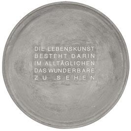 """Schale aus Beton """"Lebenskunst"""". Räder Design."""