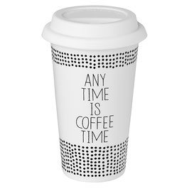 "Thermobecher ""Any time is coffee time"". Von Räder."