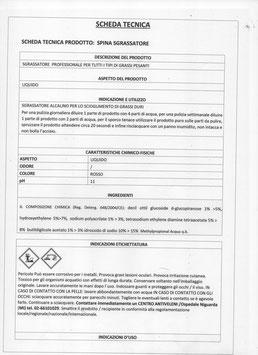 SGRASSATORE PURO 100 % TANICA 10 LT