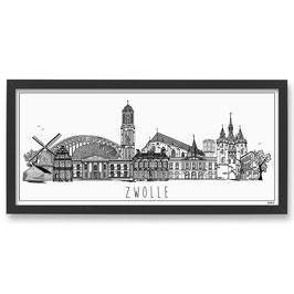 Poster Skyline Zwolle