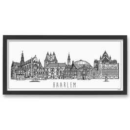 Poster Skyline Haarlem