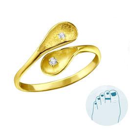 Silver Toe Ring Calela Gold