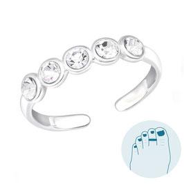 Silver Toe Ring Destiny