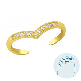 Silver Toe Ring Keylene Gold