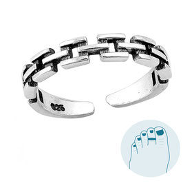 Silver Toe Ring Teenring Lydian