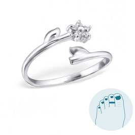 Silver Toe Ring Amilia