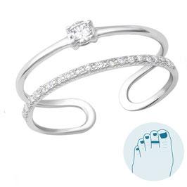 Silver Toe Ring Nicole