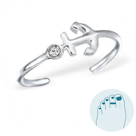 Silver Toe Ring Anchor