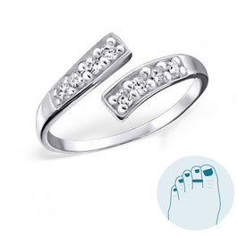 Silver Toe Ring Mistral