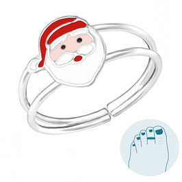 Zilveren Teenring Santa