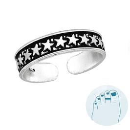 Silver Toe Ring Little Stars