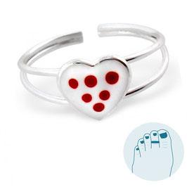 Silver Toe Ring Heartfelt