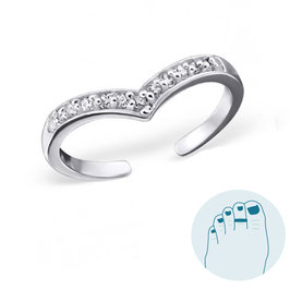Silver Toe Ring Keylene