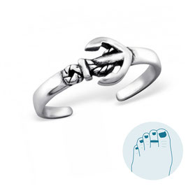 Silver Toe Ring Ancre