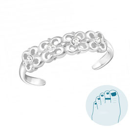 Silver Toe Ring Reese White