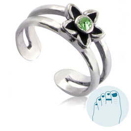 Silver Toe Ring Estee Green