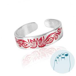 Silver Toe Ring Papaki