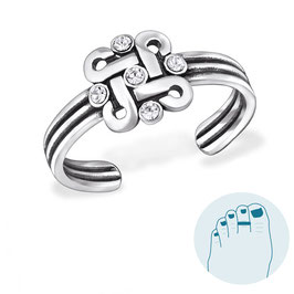 Silver Toe Ring Labyrint