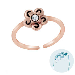 Silver Toe Ring Flory Rosegold