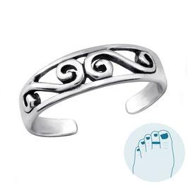 Silver Toe Ring Loura