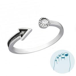 Silver Toe Ring Gea